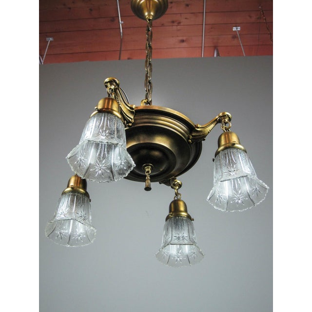 Original Pan Light Fixture (4-Light) For Sale - Image 4 of 8