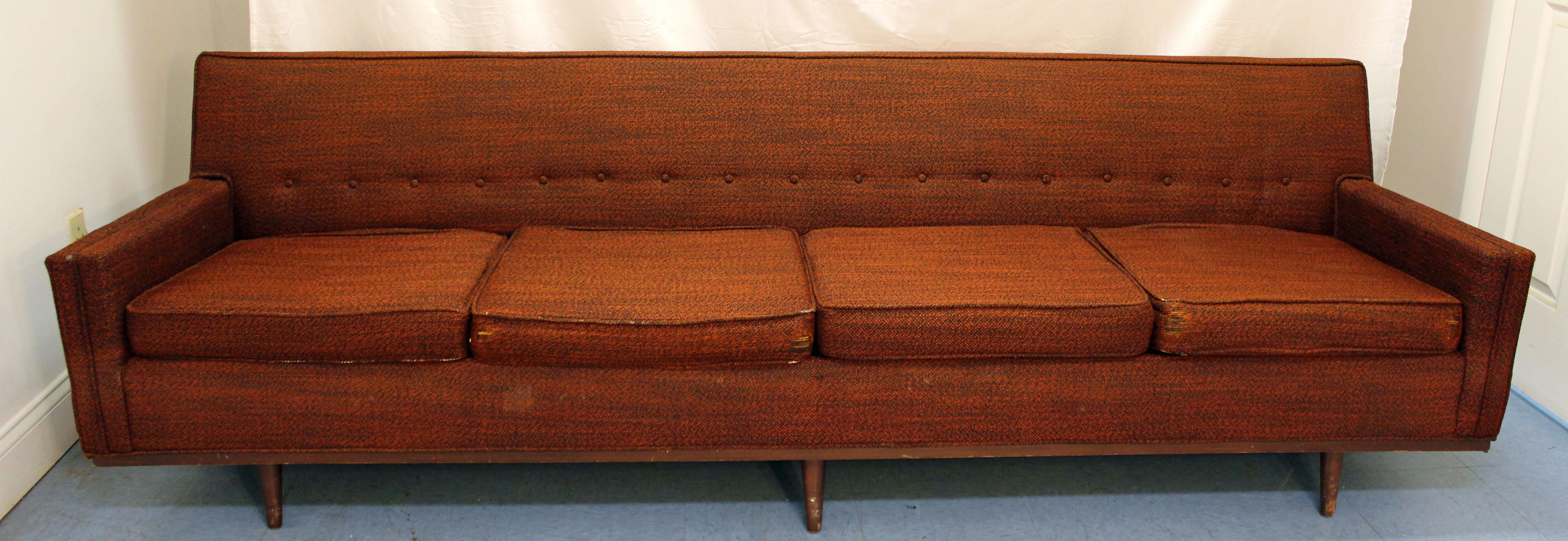 Mid Century Danish Modern Selig Of Monroe 4 Cushion Sofa   Image 2 Of