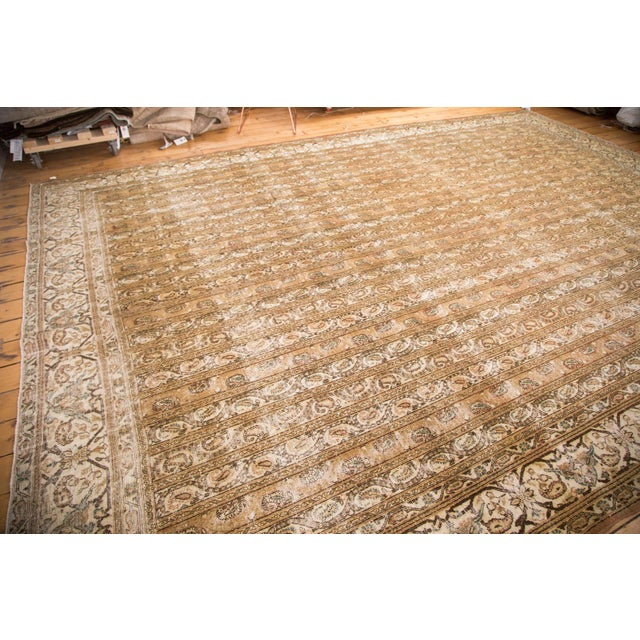 "Vintage Distressed Qom Carpet - 10'2"" x 14'5"" - Image 3 of 6"