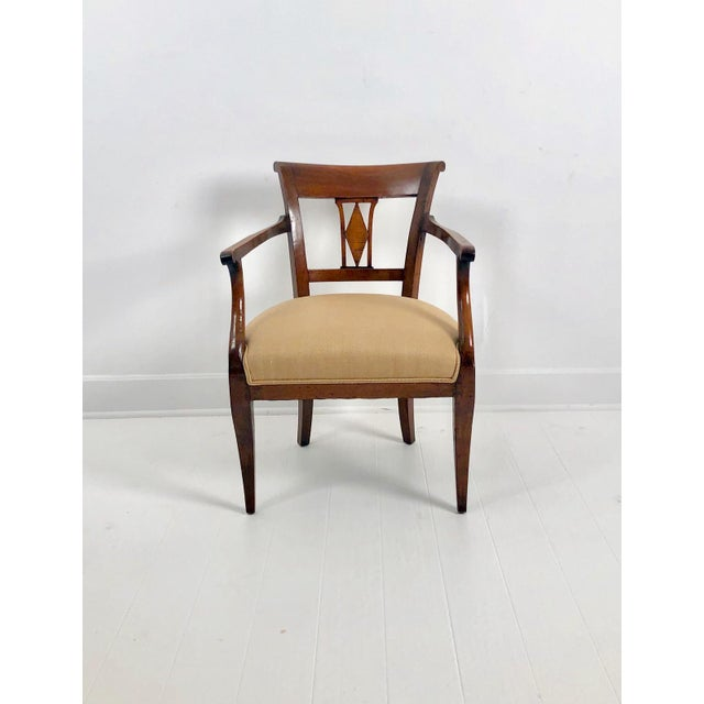 Italian Neoclassical Armchairs C. 1830 - a Pair For Sale - Image 4 of 6