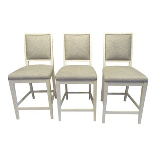 Modern Contemporary Custom Dining Bar Stools- Set of 3 For Sale
