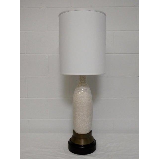 Gold Paul Laszlo Crackle Glazed Lamp For Sale - Image 8 of 8