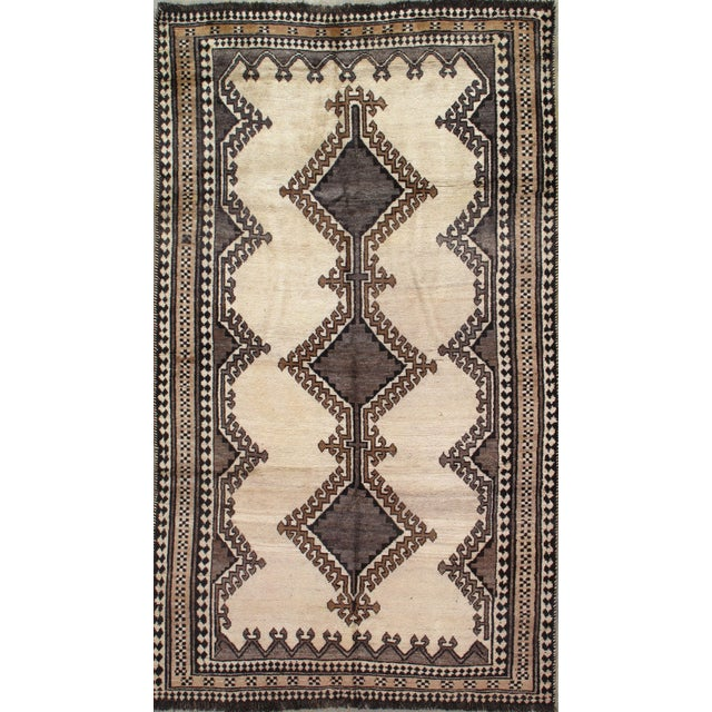 Mid 20th Century Vintage Persian Gabbeh Rug For Sale - Image 5 of 5