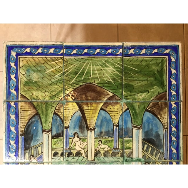 Vintage Persian Tile Top Coffee Table For Sale In Miami - Image 6 of 13
