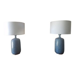 Visual Comfort Blue Culloden Table Lamps - a Pair For Sale