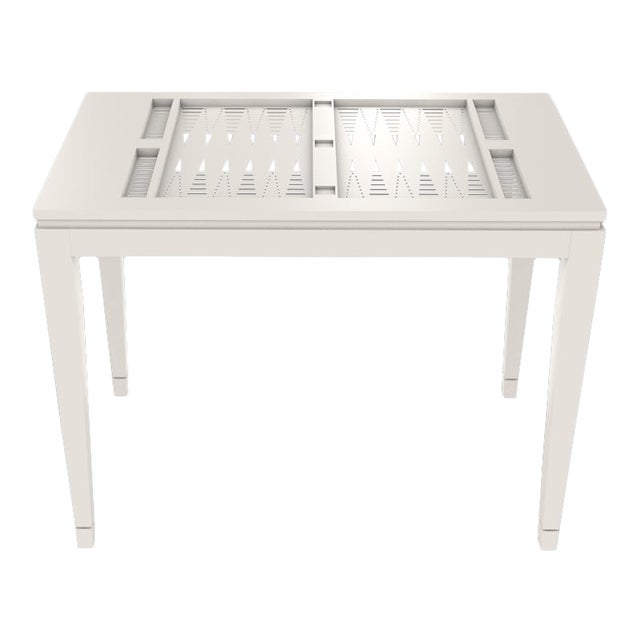 Oomph Backgammon Outdoor Table, White For Sale