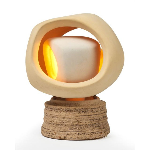 Sculplight Enigmatic Bisque and Stoneware Table Lamp by SculpLight For Sale - Image 4 of 9