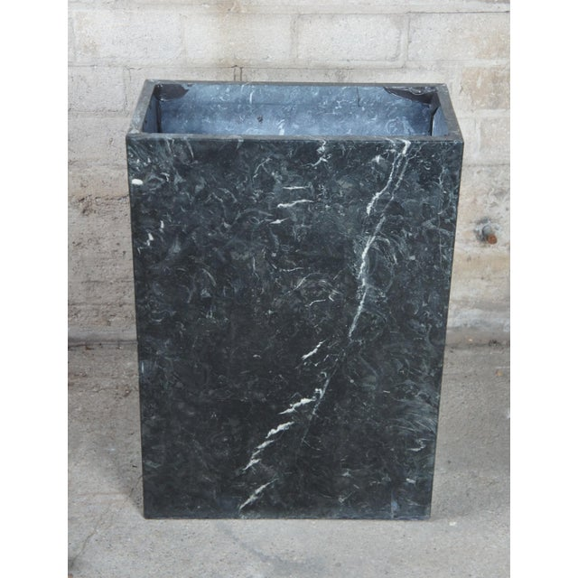 Stone Mid Century Modern Black Italian Marble Console or Sofa Table For Sale - Image 7 of 10