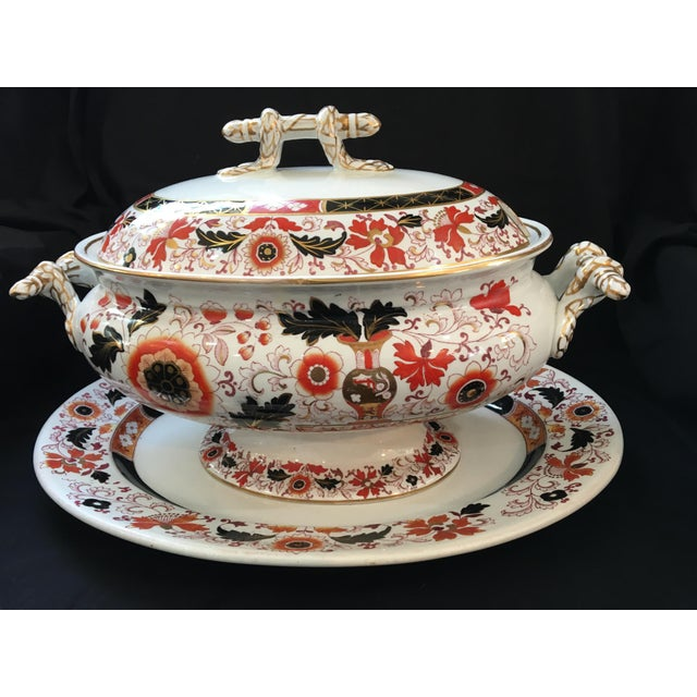 Final Markdown 19th C. Ashworth Soup Tureen & Underplate For Sale - Image 10 of 10