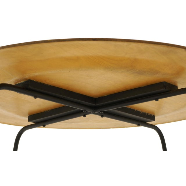 Tan Early Second Generation Eames CTM Coffee Table Metal Legs, Expertly Restored For Sale - Image 8 of 9
