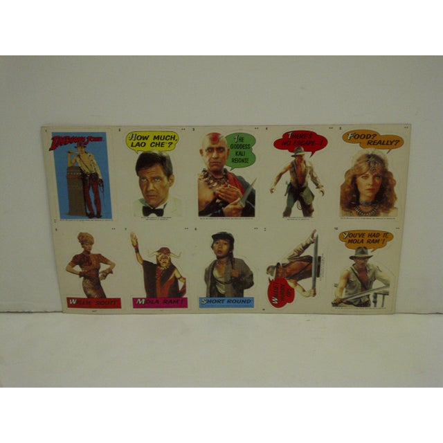 Vintage Un-Cut Sheet of Gum Card Stickers - Indiana Jones and the Temple of Doom For Sale - Image 4 of 6