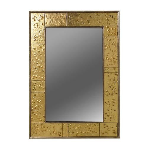 Golden Phase Mirror For Sale In New York - Image 6 of 6
