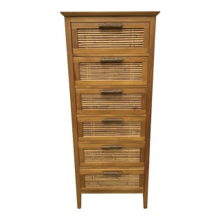 Mid-Century Modern Bamboo Chest of Drawers
