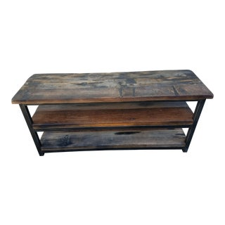 Industrial Timothy Oulton Axel Media Steel Console