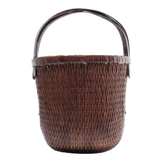 Bent Handle Willow Basket For Sale