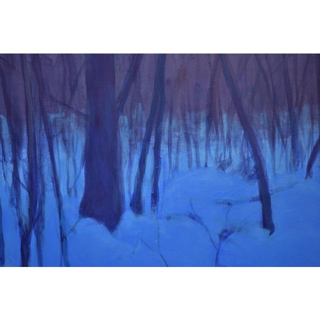 """2020s Stephen Remick """"Nightfall in Deer Hollow"""" Contemporary Expressionist Landscape Painting For Sale - Image 5 of 12"""