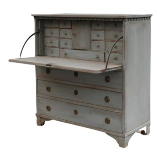 Gray-Painted Writing Bureau For Sale