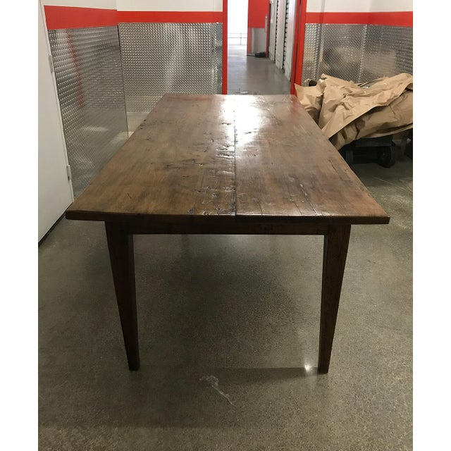 Antique Spanish Teak Dining Table For Sale - Image 4 of 9