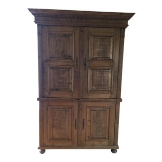 European Solid Wood Armoire, Use for Entertainment, Clothing or Bar.