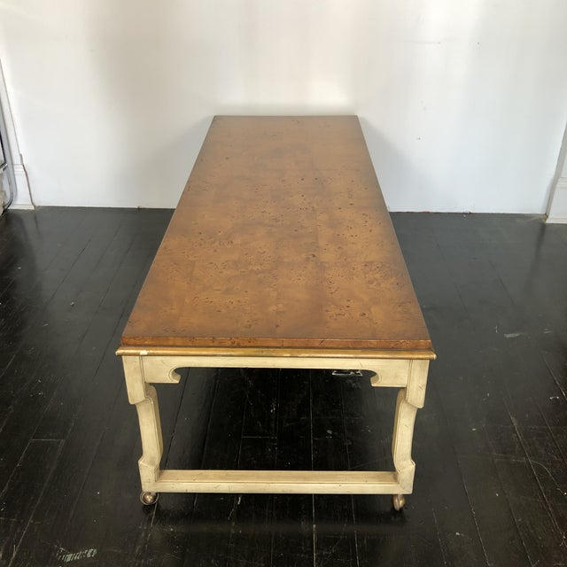 Mid-Century Modern Tomelinson Burled Wood Coffee Table For Sale - Image 3 of 11