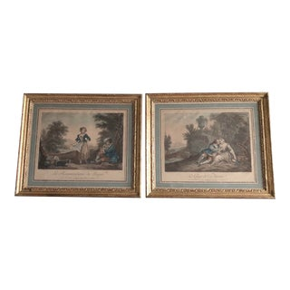 Mid 20th Century Bernard Picart French Etching Prints, Framed - a Pair For Sale