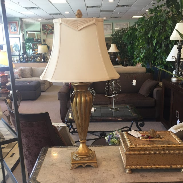 Pair of Gold and Ivory Table Lamps - Image 3 of 4