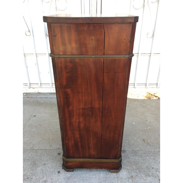 Antique Walnut & Brass Chest of Drawers - Image 5 of 11
