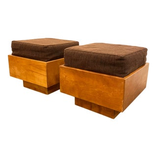 Mid-Century Modern Stools by Arden Riddle - a Pair For Sale