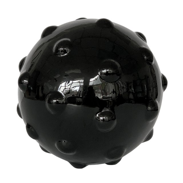 Monumental Obsidian Mine Sphere Sculpture For Sale