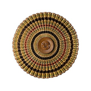 1960's Vintage Maria Kipp Woven Sun Wall Hanging Sculpture For Sale