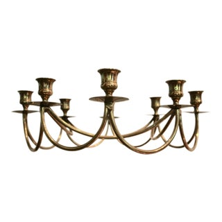 Brass Danish Modern 8-Candle Holder Candelabrum For Sale