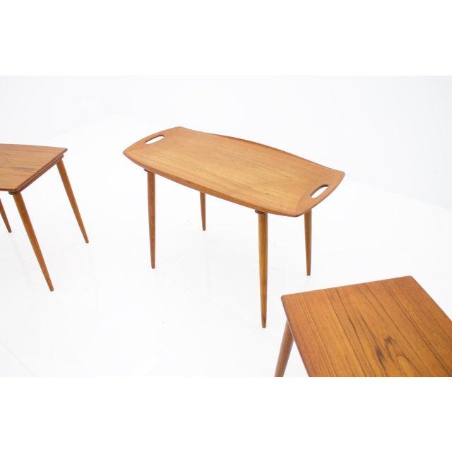 1960s Jens Quistgaard Nesting Tables in Teak Wood, Denmark, 1960s For Sale - Image 5 of 9
