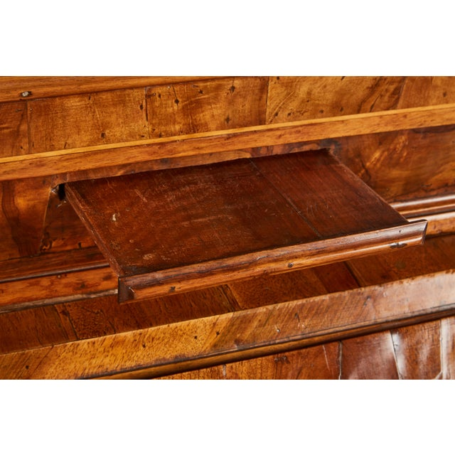 18th Century Italian Baroque Walnut and Fruitwood Secretary For Sale In Los Angeles - Image 6 of 9