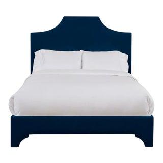 Kit Full/Double Bedframe, Navy Velvet For Sale