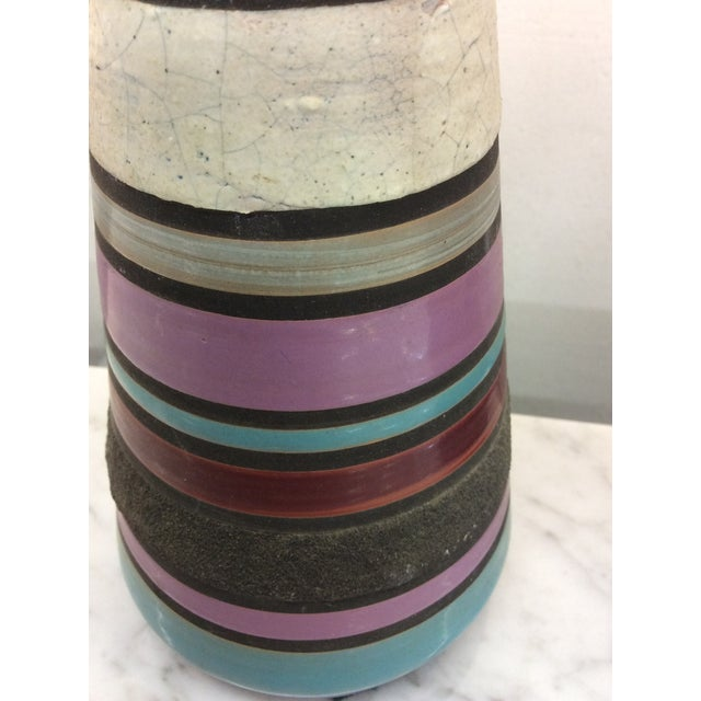 Blue Aldo Londi Bitossi Ceramic Table Lamps - a Pair For Sale - Image 8 of 11