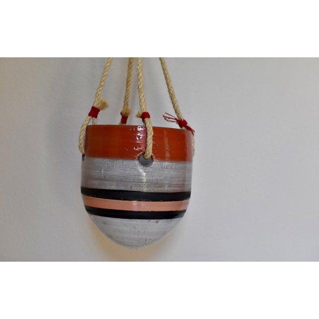 Large Striped Hanging Planter - Image 3 of 9