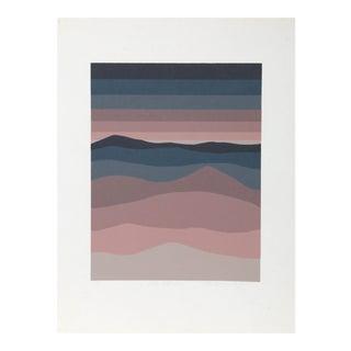 "1980s Roy Ahlgren, ""Al Khubar"", Op Art Screenprint For Sale"