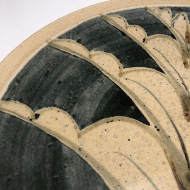 1970s Vintage Studio Pottery Platter For Sale In Boston - Image 6 of 13