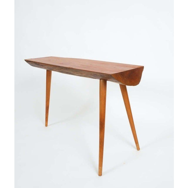 1950s Walnut Wood End Table in the Style of George Nakashima, 1950 For Sale - Image 5 of 9