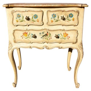 Antique Venetian Painted Louis XV Style Commode For Sale
