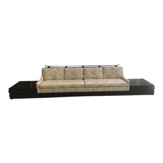 Mid-Century Asian Inspired Platform Sofa For Sale