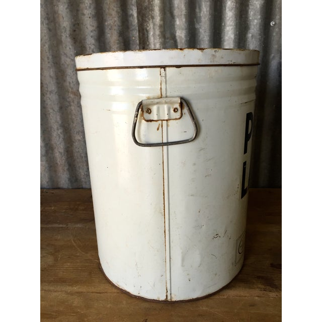 Vintage Lard Container From Oklahoma For Sale - Image 9 of 11