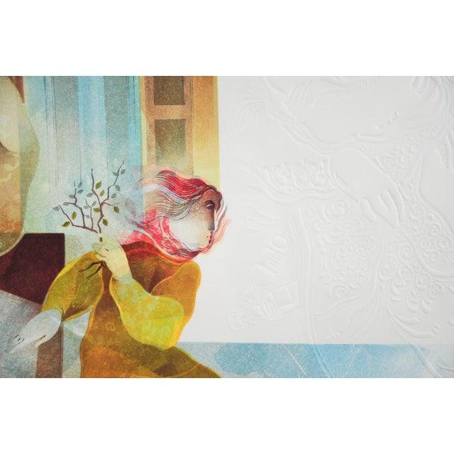 "Original Sunol Alvar Embossed Lithograph ""La Diligence and La Folie"" - Image 5 of 11"
