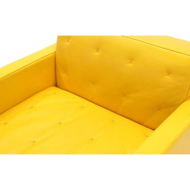 Poltrona Frau Yellow Leather Memory Swivel Lounge Chair - Image 7 of 11