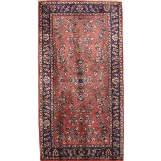 """Pasargad N Y Sarouk Design Hand Knotted Rug - 2'4"""" X 4'5"""" For Sale"""