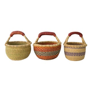 Country Style Mini Market Baskets - Set of 3 For Sale