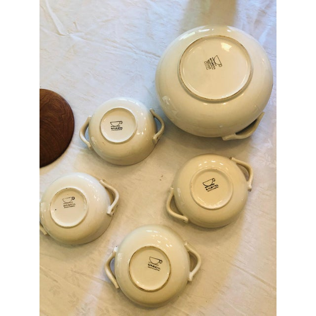 Mid 20th Century Vintage French Style Soup Set - 5 Piece Set For Sale - Image 5 of 10