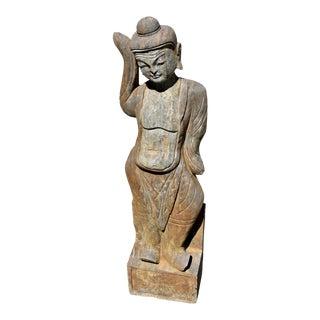 19th Century Solid Stone Figurative Statue For Sale