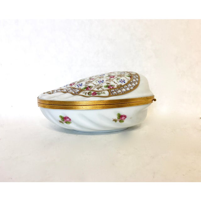 Large Clam Shell Limoges Trinket Box - Image 3 of 6