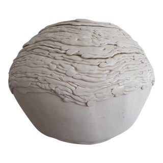 1980s Sculptural Coil Vase For Sale